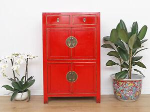 Chinesische Kommode Hochzeitschrank Schrank Massivholz rot #M-KOM-Y318