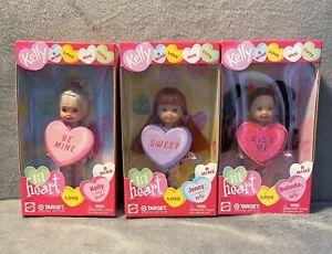 Set of 3 LIL HEART Kelly Dolls~KELLY,JENNY & BELINDA 2002~NRFB~Complete Set