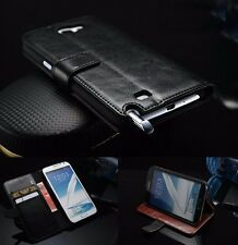 For Samsung Galaxy Note2 N7100 Luxury Leather Flip Wallet Card Slot Case Cover