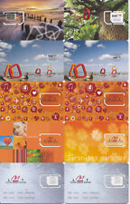 LATVIA / mobile operator LMT / 10 different GSM Sim-cards  / MINT