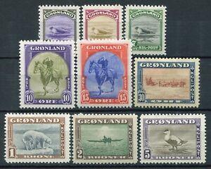 Weeda Greenland #10-18 MH - American Issue - 1945 - CV $202.50