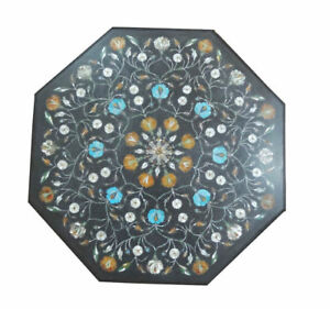 Marble Coffee Center Table Top Inlay Pietra Mosaic Home Decor Art
