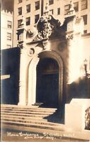 Real Photo Postcard Entrance to El Cortez Hotel in San Diego, California~138036