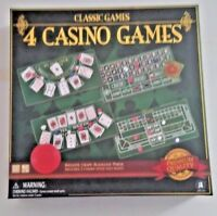 Classic  Games 4 Casino Games Boxed Set New Unopened Blackjack Texas Hold'em Etc