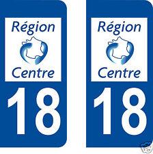 stickers autocollants plaques immatriculation auto Département 18 CHER