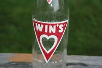 12 oz Win's Beverages ACL Soda Pop Bottle Milwaukee Wisconsin  Valentines Heart