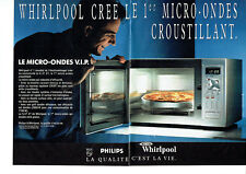Publicité Advertising 107  1992  micro-ondes V.I.P  Whirlpool (2p)