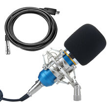 Computer Studio Condenser Microphone PC Recording Mic w/ Shock Mount & Cable