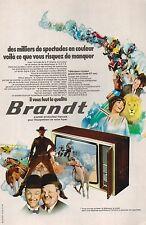 ▬► PUBLICITE ADVERTISING AD TELEVISEUR COULEUR TELEVISION BRANDT