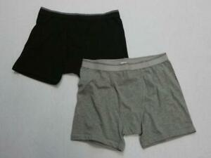 -NWOT J.CREW TWO BLACK AND HEATHER GRAY MENS BOXER BRIEFS SZ L