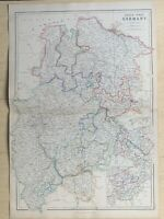 1859 North West Germany Large Hand Coloured Antique Map by W.G. Blackie