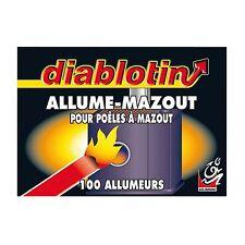 100 DIABLOTIN ALLUME MAZOUT FIOUL MECHES ++++