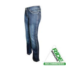 Pantalones de color principal azul para motoristas de mujer