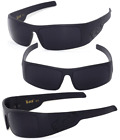 Locs Gangster Sunglasses  Free Pouch - Matte Black Frame black Locs Logo LC51