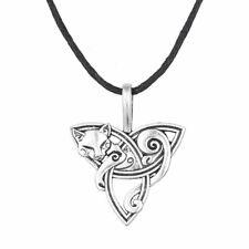 Gatto Ciondolo Collana Nodo Triquetra Celtico Amuleto Large Qualità Animal Gioie
