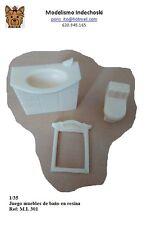 WWII lote muebles lavabo water espejo resina 1/35 accesorios diorama FURNITURE