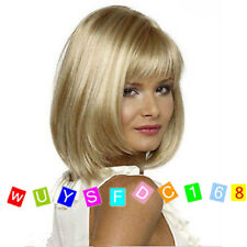New Fashion New sexy Women's ladies short Mix Blonde Natural Hair wigs + wig cap
