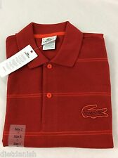 Lacoste Men's Polo Shirt NWT Pimento Ember Red Size EU 3 US XS