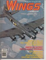 VINTAGE MAGAZINE WINGS BY SENTRY DEC 1990 MEMPHIS BELLE B17 WWII WORST AIRPLANE