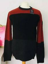 Mens Luke 1977 Gerrard 3 Crew Neck Knitted Jumper In Red