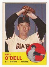 BILLY O'Dell 1963 Topps Baseball  # 235 San Francisco Giants Ex Plus