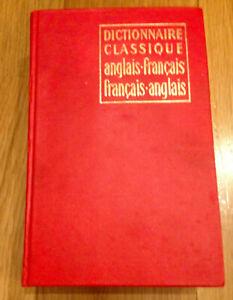 Dictionnaire classique anglais français et français anglais Hachette 1969