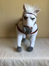 Official Exclusive Disney Store Maximus Tangled White Horse Rapunzel Posable Leg