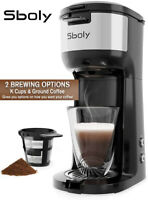 Coffee Maker Machines Single Serve Brewer K-Cup Pod&Ground Café Self-Clean Sboly