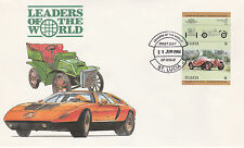 St Lucia 4979 - 1984 CARS - ALFA ROMEO $1  IMPERF PAIR on FIRST DAY COVER