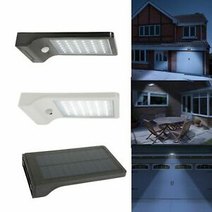 Solar Power Wireless Rechargeble Battery LED Security Wall Spot Light PIR Sensor