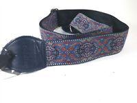 Souldier Guitar Strap (soldier) - Arabesque Indigo - Handmade - Fabric