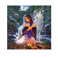 Wolf 5D DIY Full Diamond Painting Embroidery Cross Crafts Stitch Kit Home Decor