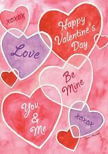 "Valentine's Messages Garden Flag Hearts Holiday 12.5"" x 18"" Briarwood Lane"