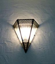 lampada a muro Marocchino ferro battuto bracci x3 lanterna decorazione oriantal
