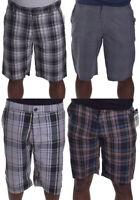 Zoo York Men's Casual Walk Black Plaid Shorts Choose Color & Size