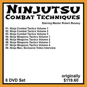 Robert Bussey's Ninjutsu Combat Techniques Series (8 DVD Set)