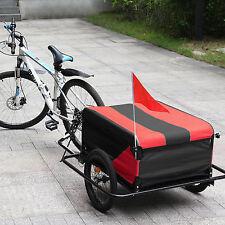 Remolque de bicicleta para Carga 100kg Mercancia Equipaje Reflector