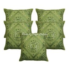 Traditional Decorative Sofa Cushion Covers 16x16 Embroidered Cotton Pillow Cases