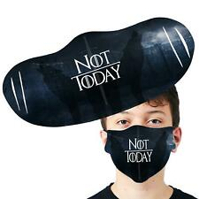 Not Today Thrones Inspired Face Cover Anti Pollution Reusable Printed Face Mask