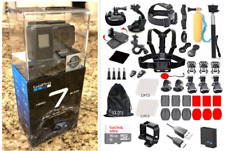 GoPro HERO7 Black Action Camera + (60) Pcs Full Accessory Kit Bundle CHDHX-701