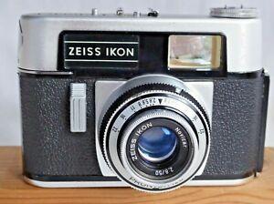 Zeiss Ikon Colora F 35mm Camera Lens Novicar f2.8 50mm Prontor Shutter  Case