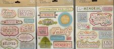 K&Co Life's Little Occasions Stickers Life Memories Funeral Memorial Site