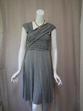 NWT New Plenty anthropologie Gray Stretch Dress size M