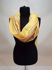 Yellow gray spring head neck scarf SHAWL Head WRAP cove