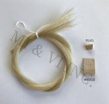MI&VI Bow Hair - High Quality Mongolian Violin Viola Bow Horsehair, Unbleached