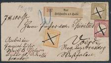 Dt. Reich großer + kleiner Schild Wertbrief Federzug 1872 Befund (S15279)