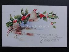 Christmas Card: A BRIGHT AND HAPPY CHRISTMAS...c1933 by J.Salmon 3497