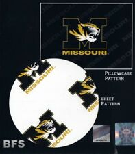 Missouri Tigers NCAA Twin Sheet Set with Pillow Case