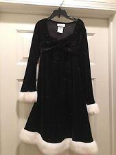 Girls size 8 Bonnie Jean Black Dress