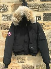 Mens Canada Goose Chilliwack Bomber Jacket Medium XXL Coat Black £775 Hood Fur